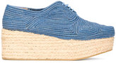 Robert Clergerie Pintom platform shoes - women - Raffia/Leather/rubber - 36