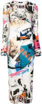 Versus printed maxi jersey dress