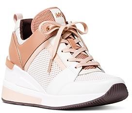 MICHAEL Michael Kors Women's Georgie Almond Toe Platform Trainer Sneakers