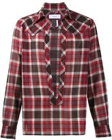 Facetasm split front plaid shirt - men - Nylon/Wool - 4