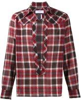 Facetasm split front plaid shirt