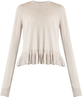 Elizabeth and James Kent ruffle-trimmed cotton-blend sweater