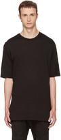 Helmut Lang Black Slash Hem T-shirt