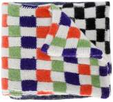 The Elder Statesman check and stripe scarf