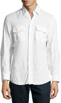 Billy Reid Brantley Linen Utility Shirt