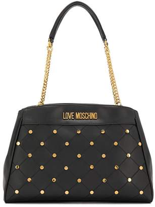 Love Moschino Studded Logo Tote