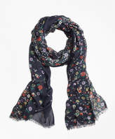 Brooks Brothers Floral-Print Oblong Scarf