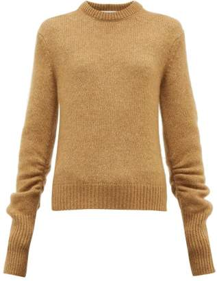 Chloé Ruched-sleeve Sweater - Womens - Camel