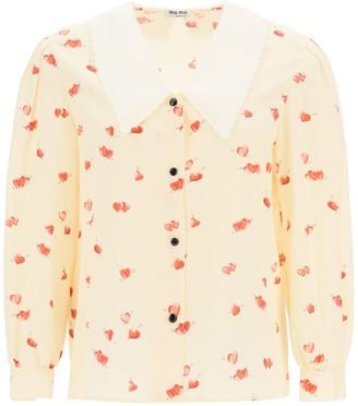 Miu Miu Printed Marocain Silk Shirt