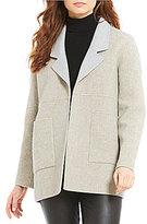 Eileen Fisher Reversible Notch Collar Jacket