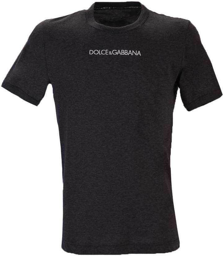 Dolce & Gabbana Grey Branded T-shirt