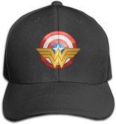 AGMPO Unisex Wonder Women Logo Peaked Baseball Cap Hats