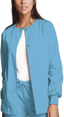 Cherokee Women's Snap Front Warm-Up Scrub Jacket