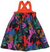 Sonia Rykiel Bird Printed Cotton Satin Dress