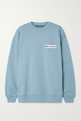 Acne Studios Appliqued Cotton-jersey Sweatshirt - Light blue
