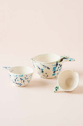 Anthropologie Clea Speckled Measuring Cups, Set of 4 By in Blue Size MEAS CUPS