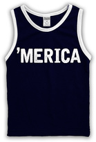 Urban Smalls Navy 'Merica' Tank - Toddler & Boys