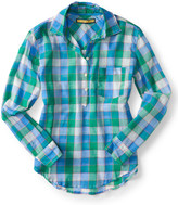 Prince & Fox Big Box Plaid Half Placket Button Down