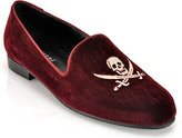 Jon Josef G-Skull - Burgundy Velvet Smoking Slipper