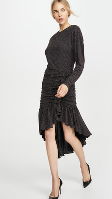 Philosophy di Lorenzo Serafini Long Sleeve Asymmetrical Dress