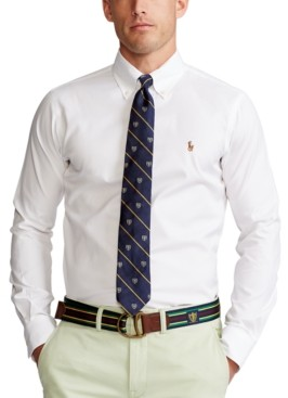 Polo Ralph Lauren Men's Estate Classic/Regular Fit Pinpoint Oxford Dress Shirt