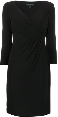 Lauren Ralph Lauren Fitted Wrap-Style Cocktail Dress