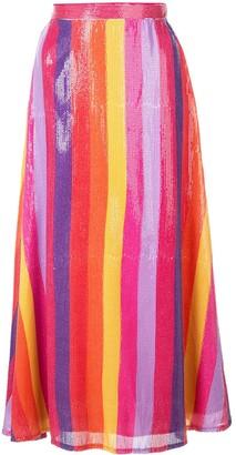 Olivia Rubin stripped sequin skirt