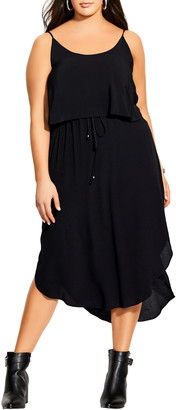City Chic Tiered Midi Dress