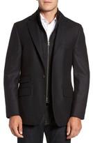 Men's Flynt Classic Fit Wool & Cashmere Hybrid Coat