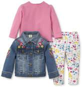 Little Me Flower Jeanjacket Set