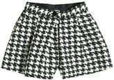 Dolce & Gabbana Houndstooth Printed Wool & Silk Shorts