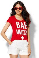 "New York & Co. ""Bae Watch"" Graphic Tee"