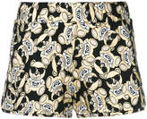 Moschino toy bear foil shorts