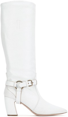Miu Miu Side Buckle Pointy Toe Boots