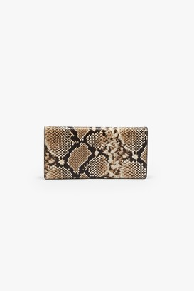French Connection Python Leather Clutch Bag