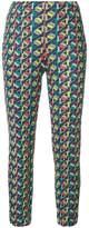 Pleats Please Issey Miyake geometric print cropped skinny trousers