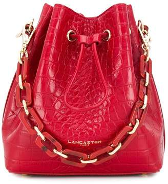 Lancaster drawstring closure bucket bag