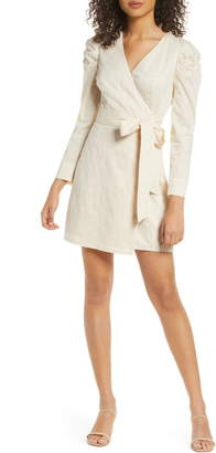 Bellevue The Label Bianca Wrap Front Long Sleeve Dress