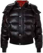 Alexander McQueen Leather Puffer Jacket, Black, EU 48