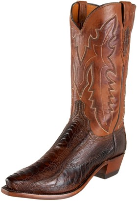 Lucchese 1883 by Men's N1119 5/4 Western Boots Chocolate Matte 13 D(M)US