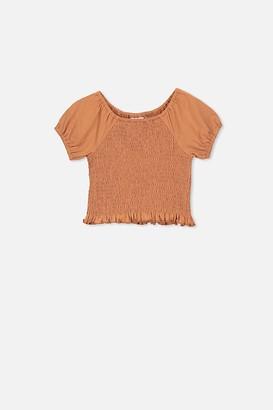 Cotton On Silvia Short Sleeve Shirred Top