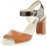 Jil Sander Navy Two-Piece Leather Sandal