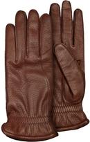 Pineider Men's Brown Deerskin Leather Gloves w/ Cashmere Lining