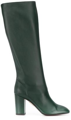 Aquazzura Boogie 85mm knee-high boots