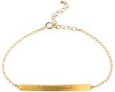 Dogeared Life Is Magical Engraved Charm Bracelet, Gold