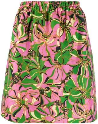La DoubleJ botanic print skirt