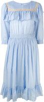 Masscob ruffled bib dress - women - Silk/Cotton - S
