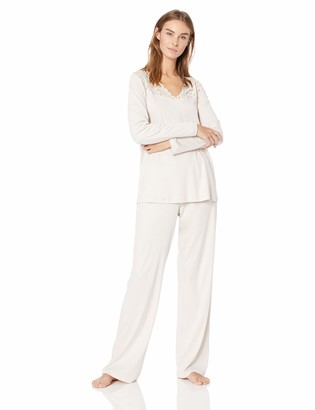 Hanro Women's Moments Long Sleeve Pajama Set