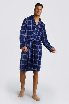 boohoo Check Print Supersoft Robe