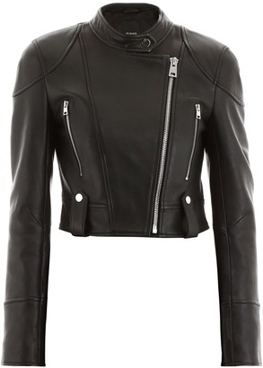 Pinko Asymmetric Zip Biker Jacket